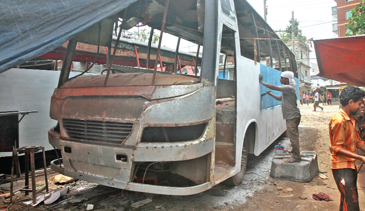 Unfit buses get ready  for Eid trip