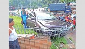 Raju Sculpture fence damaged in car hit