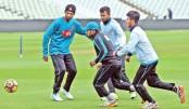 Bangladesh cricketers Mahmudullah Riyad