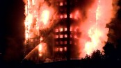 Huge fire engulfs tower block in west London (Video)
