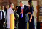 Donald Trump, First Lady pay surprise visit to Republican leader Scalise in hospital