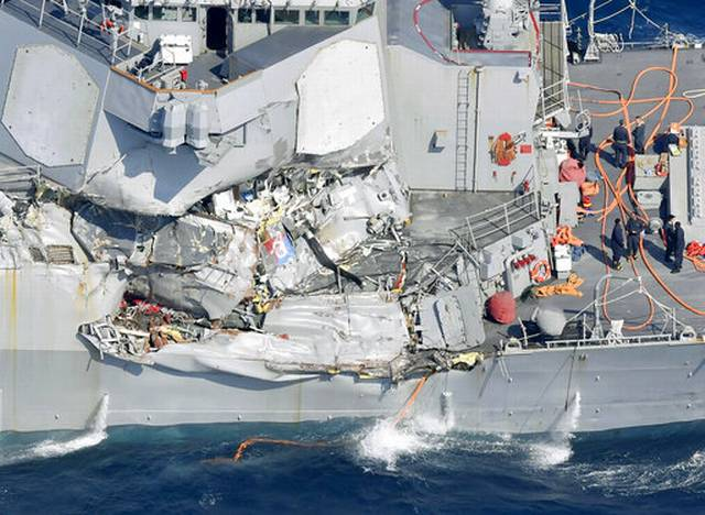 Seven US Navy crew missing after collision off Japan