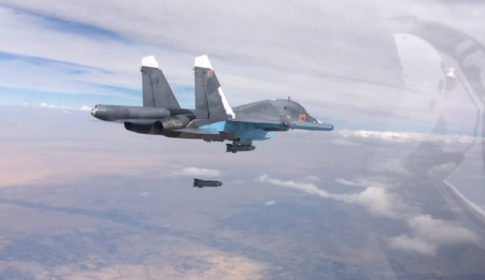 Russia says 180 IS fighters killed in Syria strikes