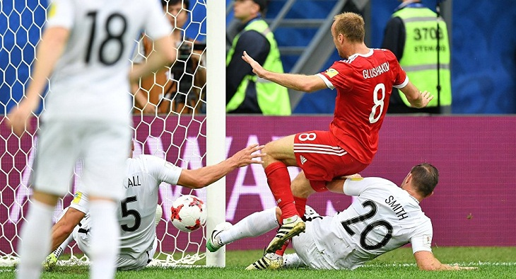 Russia defeats New Zealand in opening match of 2017 FIFA Confederations Cup
