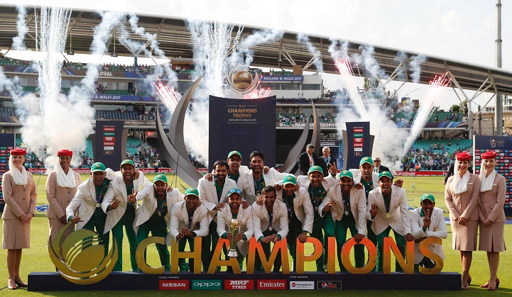 Pakistan clinch Champions Trophy title beating India by 180 runs