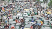 Traffic jam on Dhaka roads