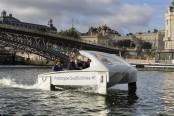 Noiseless river 'bubble' taxi sails through Paris test