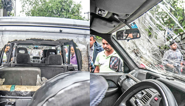 Fakhrul's motorcade attacked in Ctg