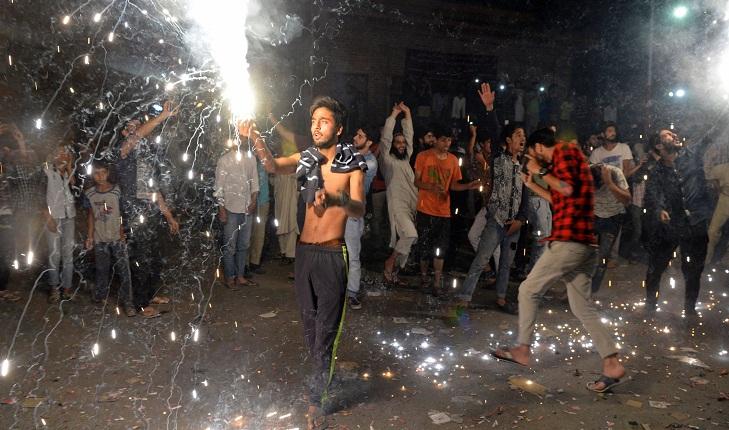 Srinagar hails Pakistan victory as gloom hits Delhi
