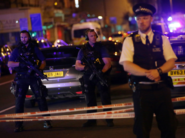 One killed, 10 injured as van strikes crowd near mosques in London