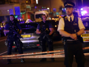 One killed, 10 injured as van strikes crowd near mosques in London