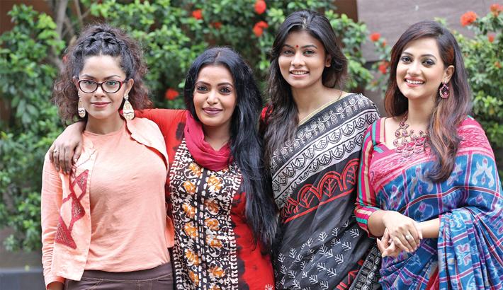 Tamalika, Anny, Swarna and Toya