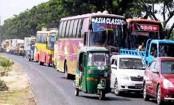 Gridlocks on different highways ahead of Eid