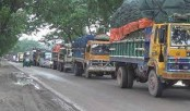 Long tailback on Dhaka-Tangail highway