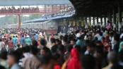 Homebound people's rush at rail stations, bus stands