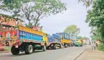 Traffic get slow on Dhaka-Tangail road