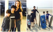 Sussanne Khan takes sons out on a vacation