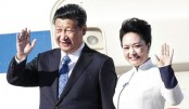 China's first lady makes a splash in tense HK visit