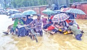 Waterlogging disrupts Ctg city life