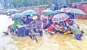 Waterlogging disrupts Ctg city life