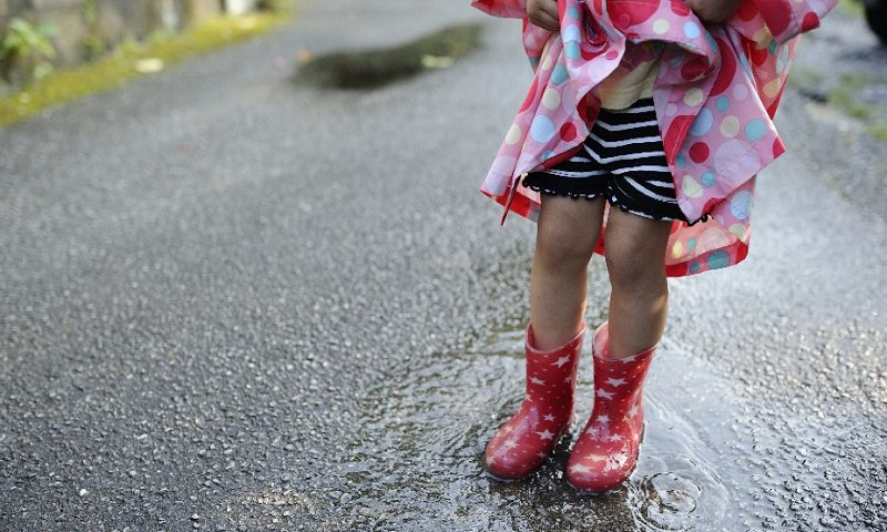 Fashion forward with fancy footwears in rain