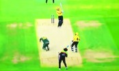 Hit on head by powerful straight drive, bowler sustains horrific injury (Video)
