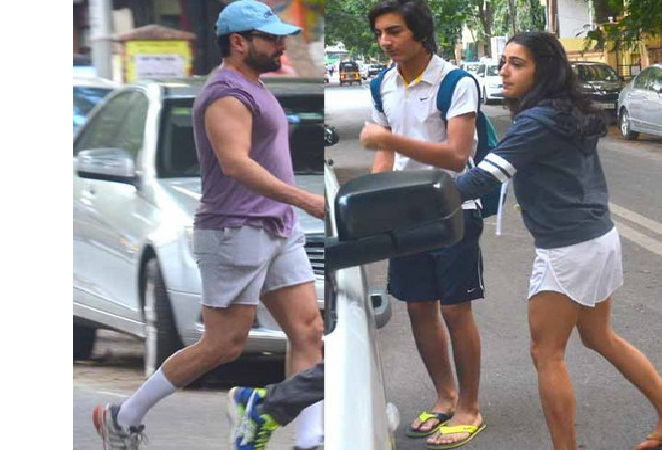 Sara, Ibrahim leave for IIFA with dad Saif Ali Khan