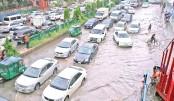 Rain disrupts city life