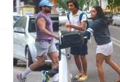 Sara, Ibrahim leave for IIFA with dad Saif Ali Khan