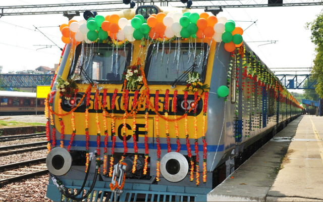 Indian Railways launches first solar-powered DEMU train