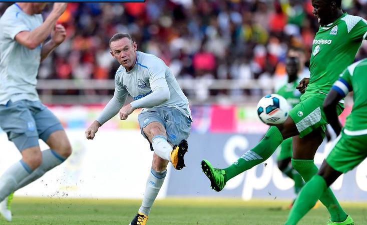 Wayne Rooney scores against Kenya's Gor Mahia on Everton return in Africa friendly
