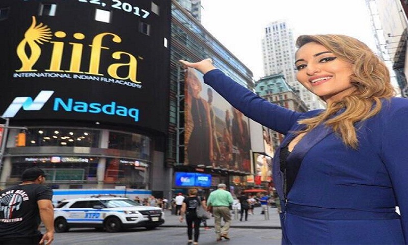 Sonakshi Sinha rings Nasdaq bell in New York