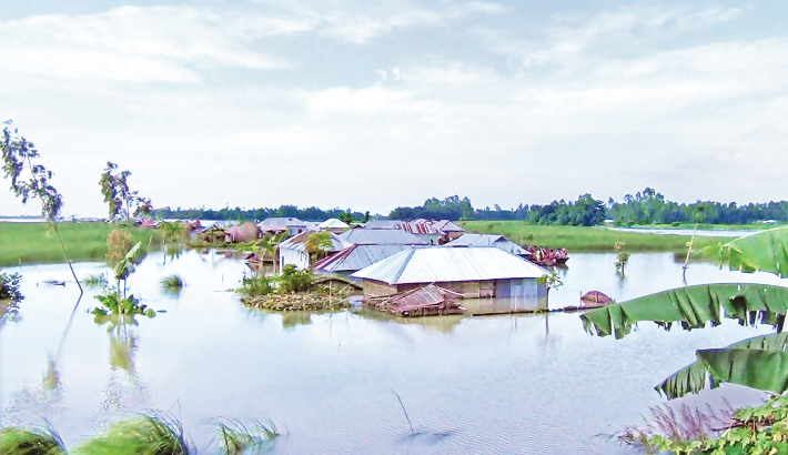 Flood-affected people cry for relief