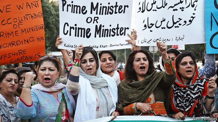 A corruption probe threatens to undo Pakistan's prime minister