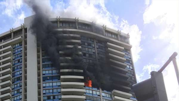 Honolulu high-rise fire kills at least 3 (Video)