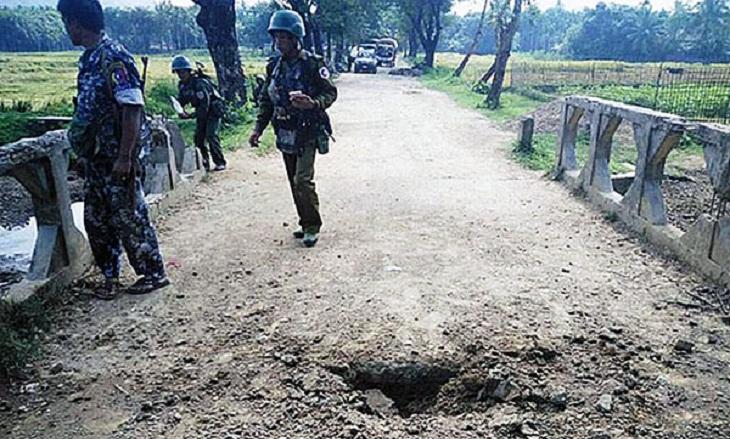 Explosion kills 3 in Myanmar's Rakhine