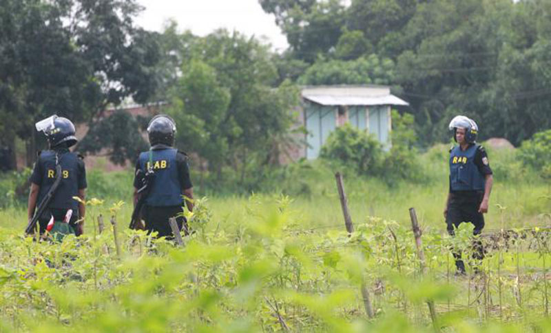 Four surrender in Ashulia 'militant den' raid