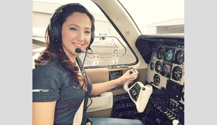 Afghan ex-refugee makes global solo flight