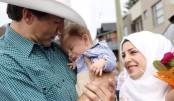 Baby Justin Trudeau meets Canadian prime minister