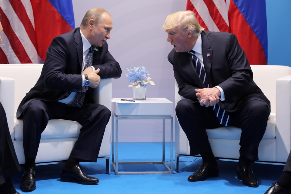Trump and Putin met twice at G20 in Germany