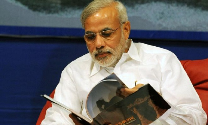India's Prime minister would like books instead of bouquets