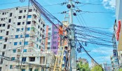 Risky electric lines hung overhead