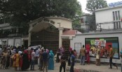 Eden College students' protest in solidarity with DU affiliates