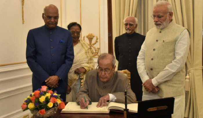 Modi hosts farewell for President Pranab Mukherjee