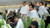 Biman's first Hajj flight off to Jeddah