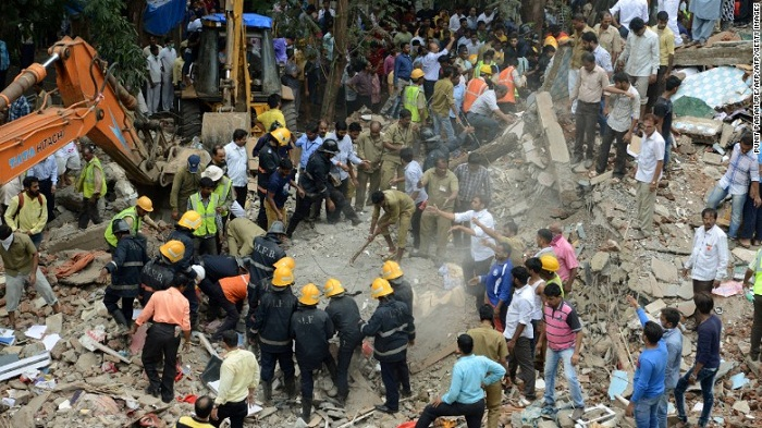 Building collapses in Mumbai, at least 12 dead