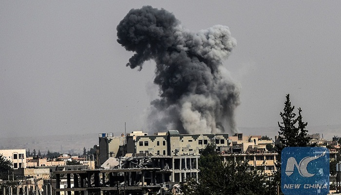 US-led airstrike kills 30 civilians in Syria's Raqqa