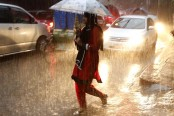 Downpour downs Dhaka