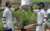 Shikhar Dhawan's century puts India on top