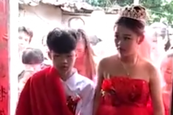 Chinese children marry each other aged 13